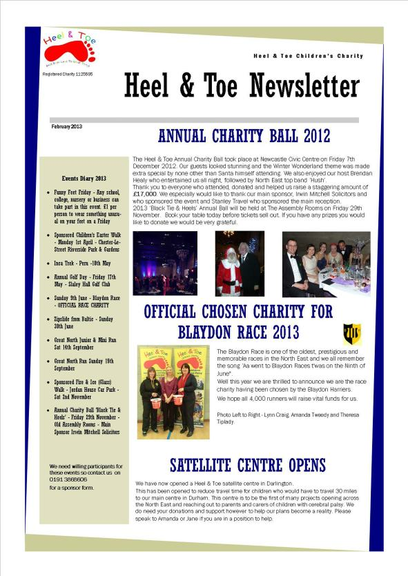 January Newsletter 2013