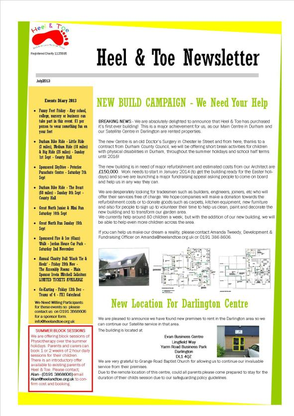July Newsletter 2013